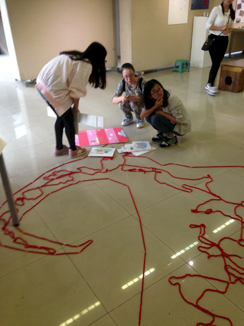 Working on the exhibition at HNU, Changsha, China